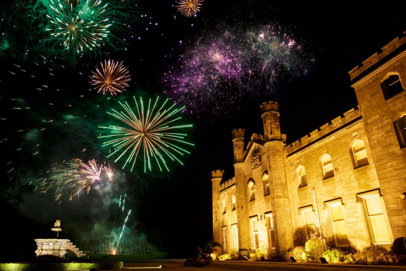 Pr agency Edinburgh, celebrating Hogmanay New Year 2020 in Edinburgh at Dundas Castle, events and wedding private venue, Scottish Castle