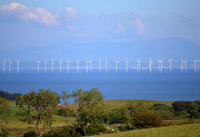wind turbines at Robin Rigg wind farm