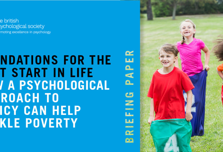 The British Psychological Society is calling for greater investment in community and early years services to make sure all children have the best start in life and to begin to tackle poverty in the UK.