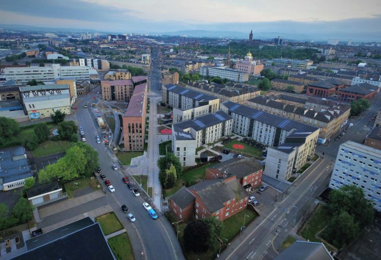 housing developed on land brought forward by Glasgow City Council