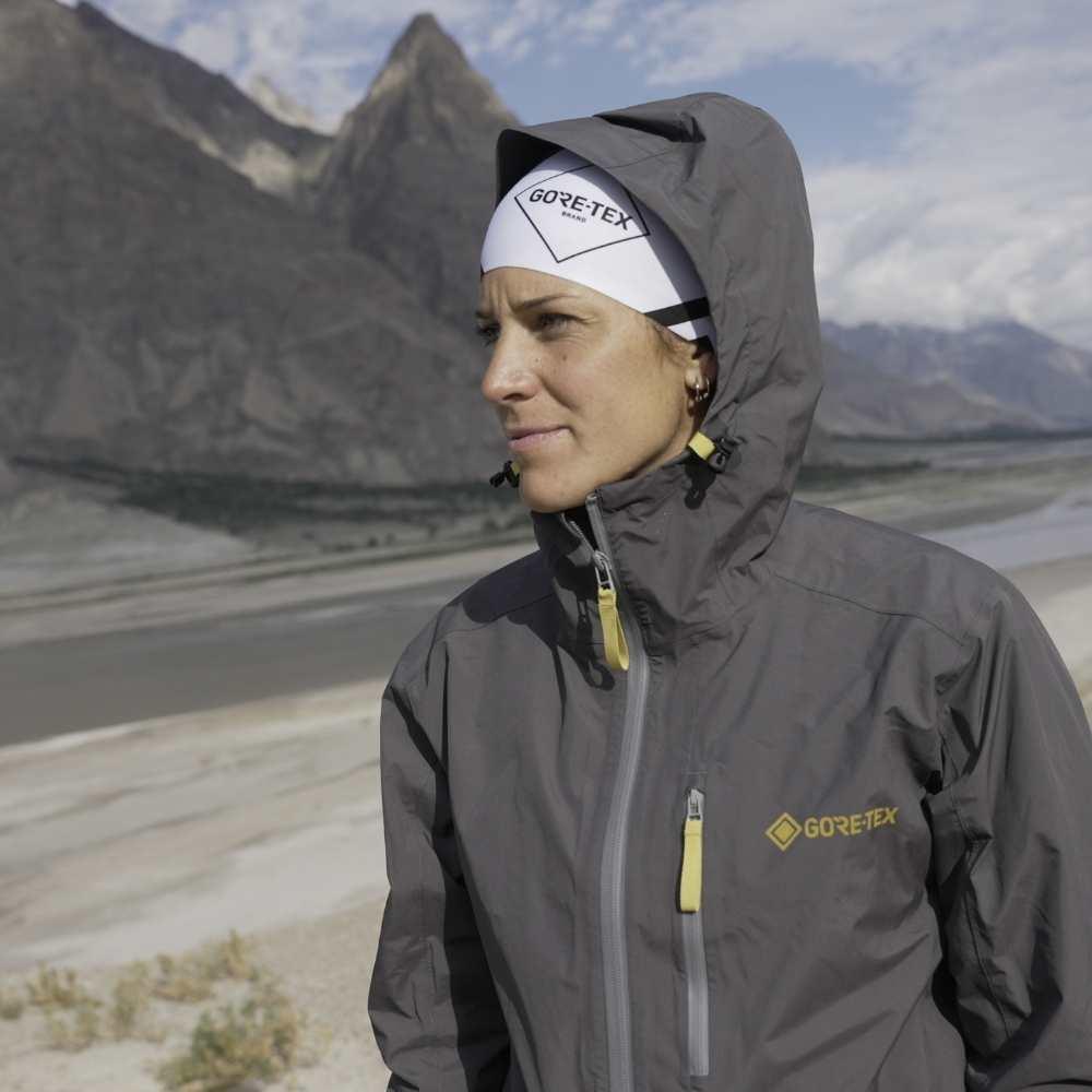 Gore-Tex athlete Tara Lunger wears Gore-Tex apparel.